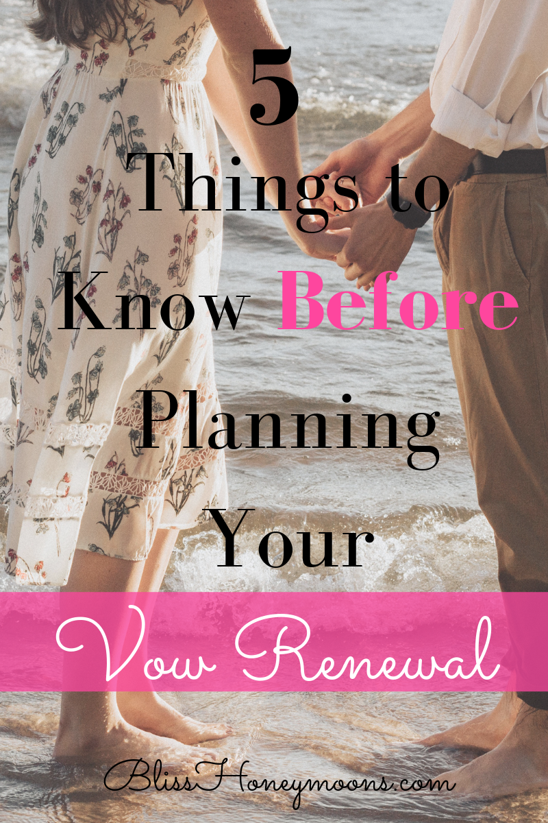 Now that you're planning to renew your vows, you have the perfect opportunity to do it all over again and really sit back and enjoy yourselves. Those last-minute jitters shouldn't be a part of this celebration – especially if you plan things out well. Here are our Top 5 Vow Renewal Planning Tips that everyone should know before booking anything.