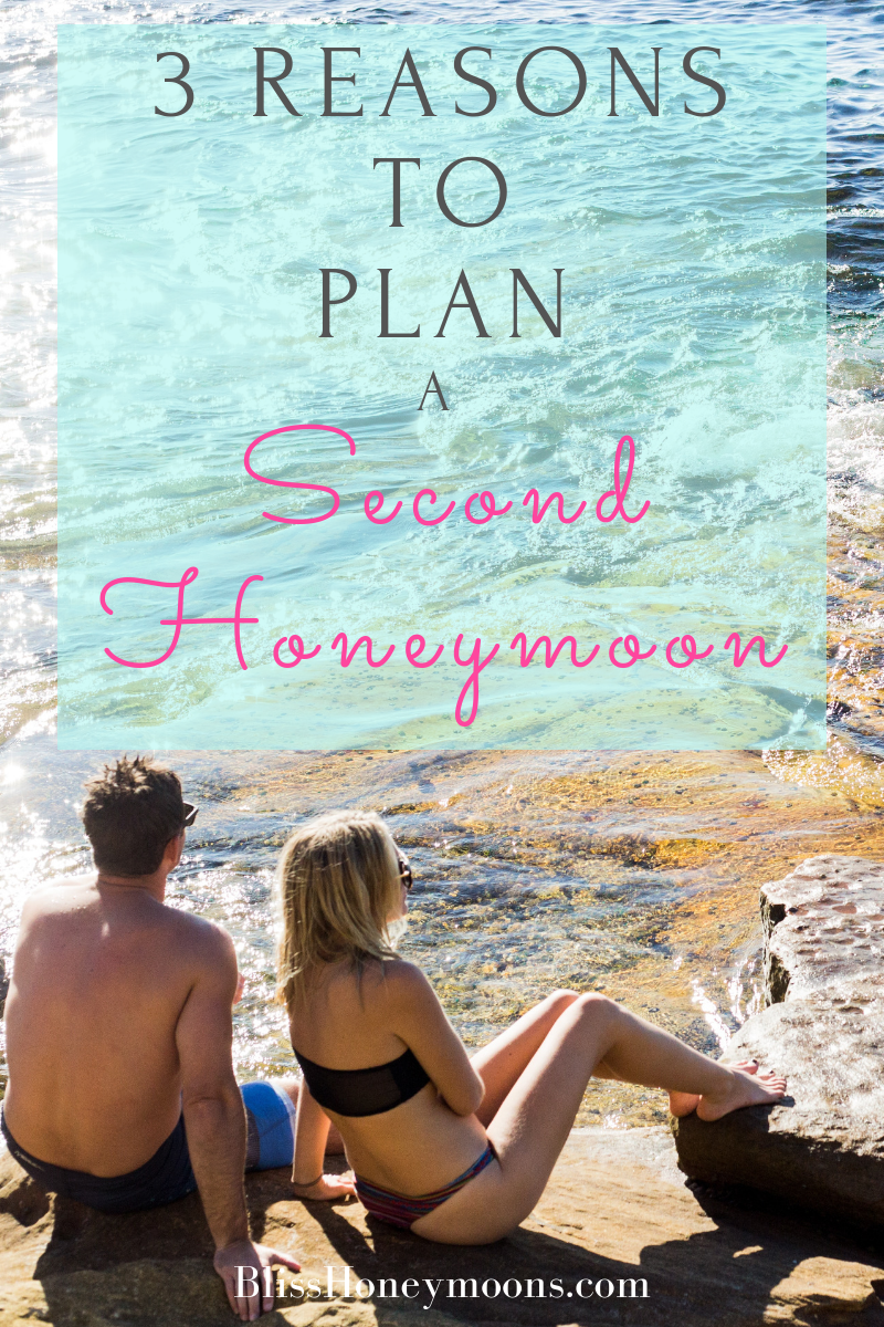 "Why should couples seriously consider that second honeymoon to cap off a renewal ceremony? Here are three reasons why a second honeymoon getaway is in order after saying ""I do"" yet again."