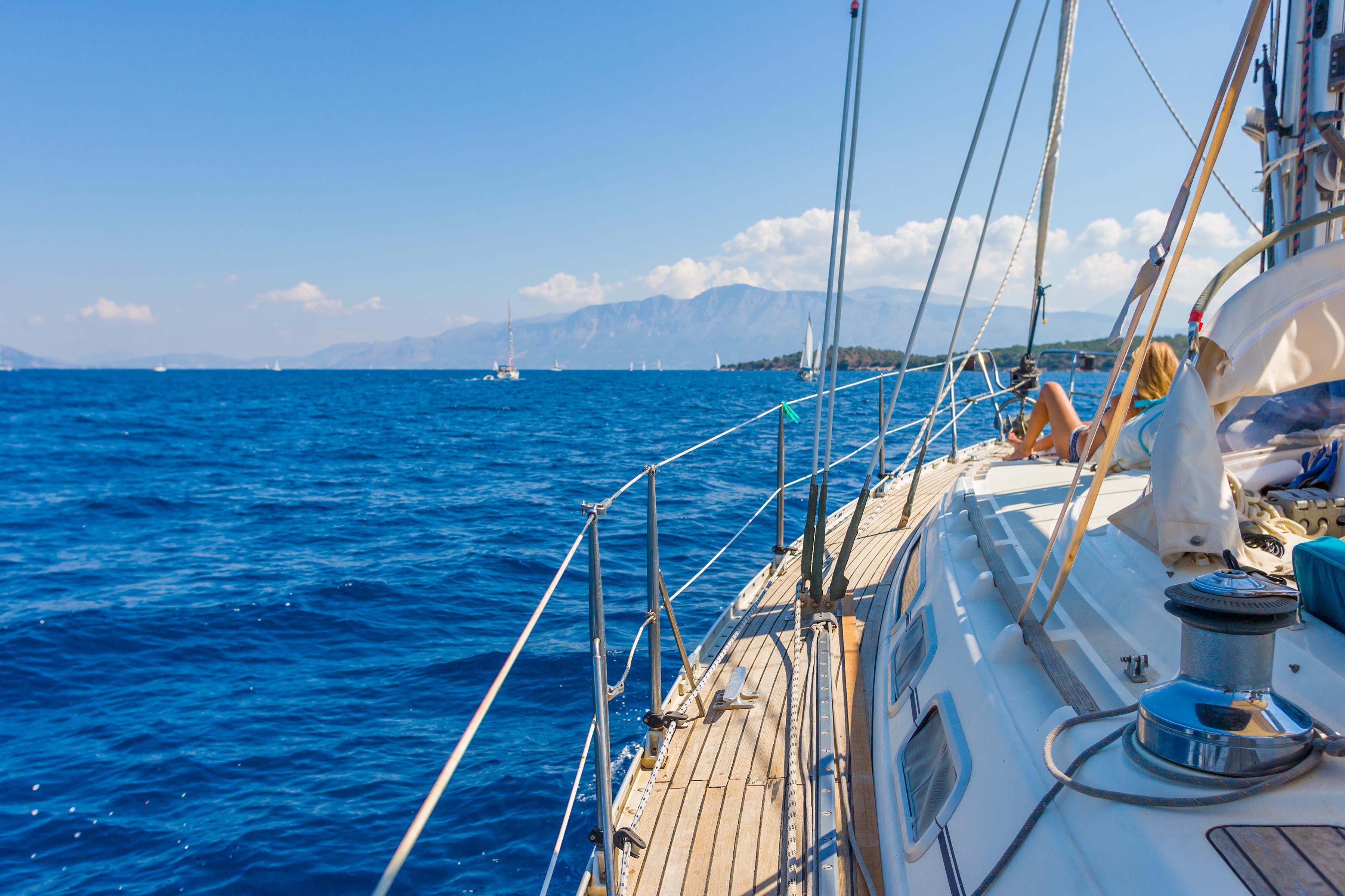 Sailing Yacht In Lefkada Greece Bliss Honeymoons
