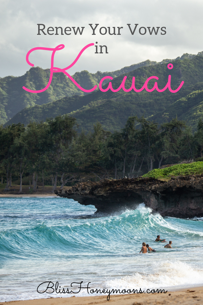 """Kauai couldn't be more perfect for a vow renewal destination if it tried.Known as Hawaii's """"Garden Isle,"""" Kauai is famed for its stunning landscapes, outstanding resorts and incredible things to see and do."""