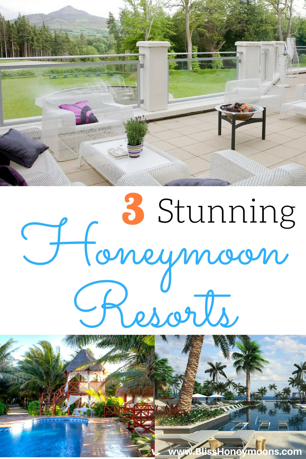 3 stunning honeymoon resorts, El Dorado Royale honeymoon, best honeymoon resorts, top honeymoon resorts, Powerscourt Hotel honeymoon, Unico honeymoon