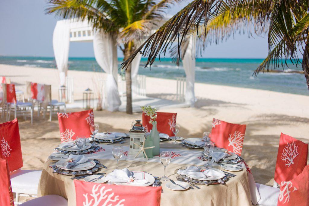 A beautiful backdrop of the ocean makes for the perfect destination wedding scene. #destinationwedding #isaidyes #epicwedding #beachwedding #girlswhotravel #seetheworld