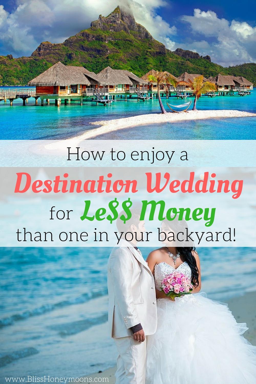 how to afford a beach resort wedding