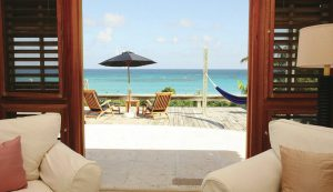 Bahamas boutique hotels pink sands view of beach through window