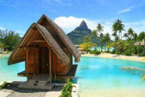 Tahiti honeymoon hut on the water