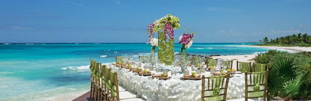 Dreams Tulum Resort and Spa rooftop destination wedding
