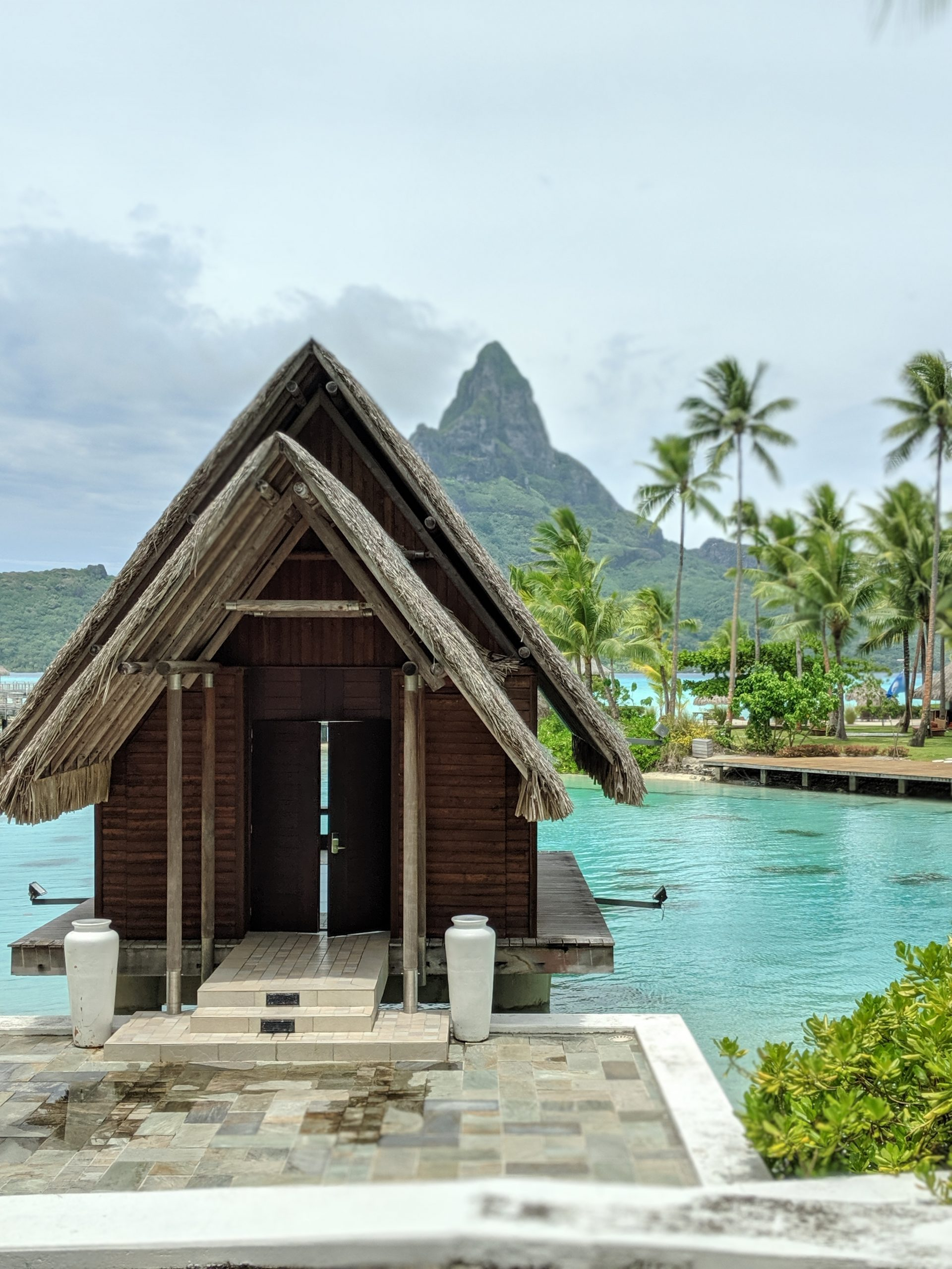 Bungalows in French Polynesia