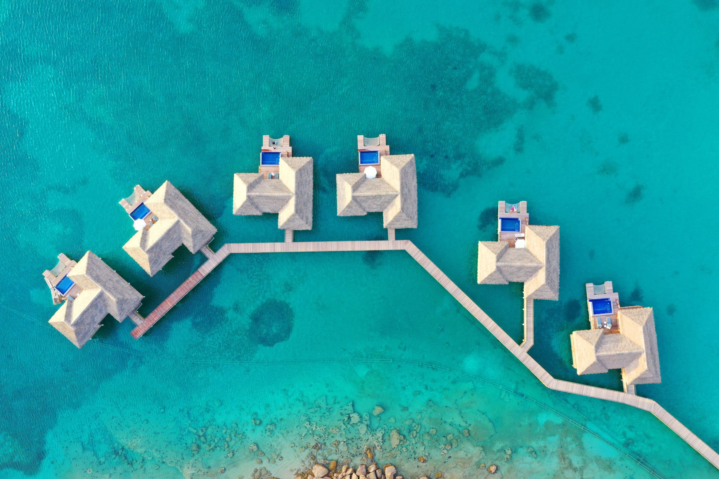 over water bungalows at royalton antigua